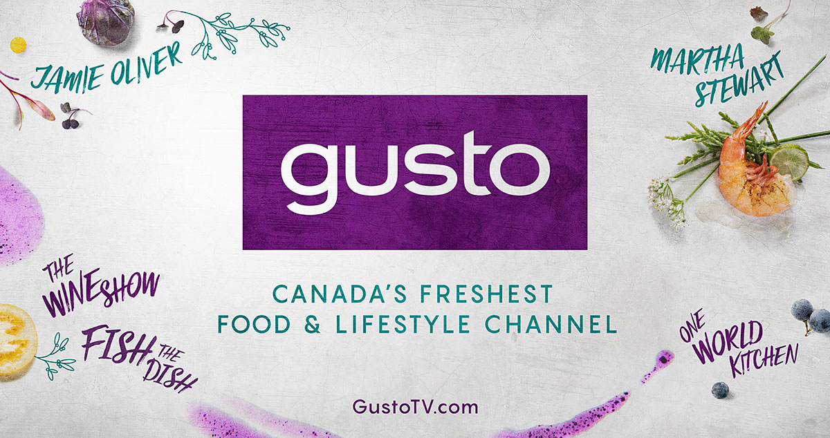 Gusto wall mural, painted on Queen and John Street.