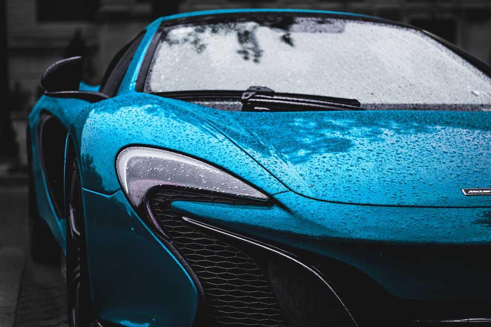 Blue McClaren race car