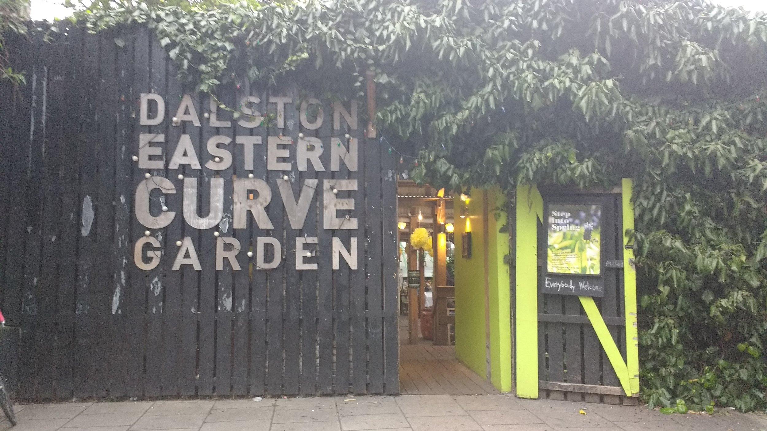 Dalston Eastern Curve Garden entrance