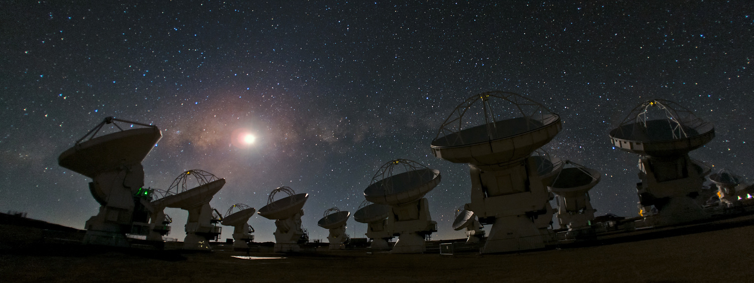 The  Atacama Large Millimeter/submillimeter Array (ALMA), an international astronomy facility, is a partnership of  ESO , the  U.S. National Science Foundation (NSF) and the  National Institutes of Natural Sciences (NINS) of Japan in cooperation with the  Republic of Chile .ALMA is funded by ESO on behalf of its Member States, by NSF in cooperation with the National Research Council of Canada (NRC) and the National Science Council of Taiwan (NSC) and by NINS in cooperation with the Academia Sinica (AS) in Taiwan and the Korea Astronomy and Space Science Institute (KASI). ALMA construction and operations are led by ESO on behalf of its Member States; by the National Radio Astronomy Observatory (NRAO), managed by Associated Universities, Inc. (AUI), on behalf of North America; and by the National Astronomical Observatory of Japan (NAOJ) on behalf of East Asia. The Joint ALMA Observatory (JAO) provides the unified leadership and management of the construction, commissioning and operation ofALMA.