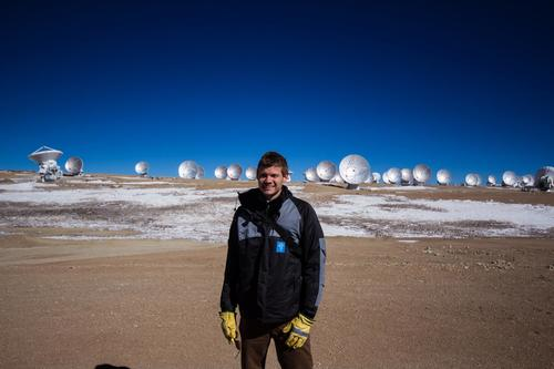 Grant Tremblay at the ALMA site in 2014
