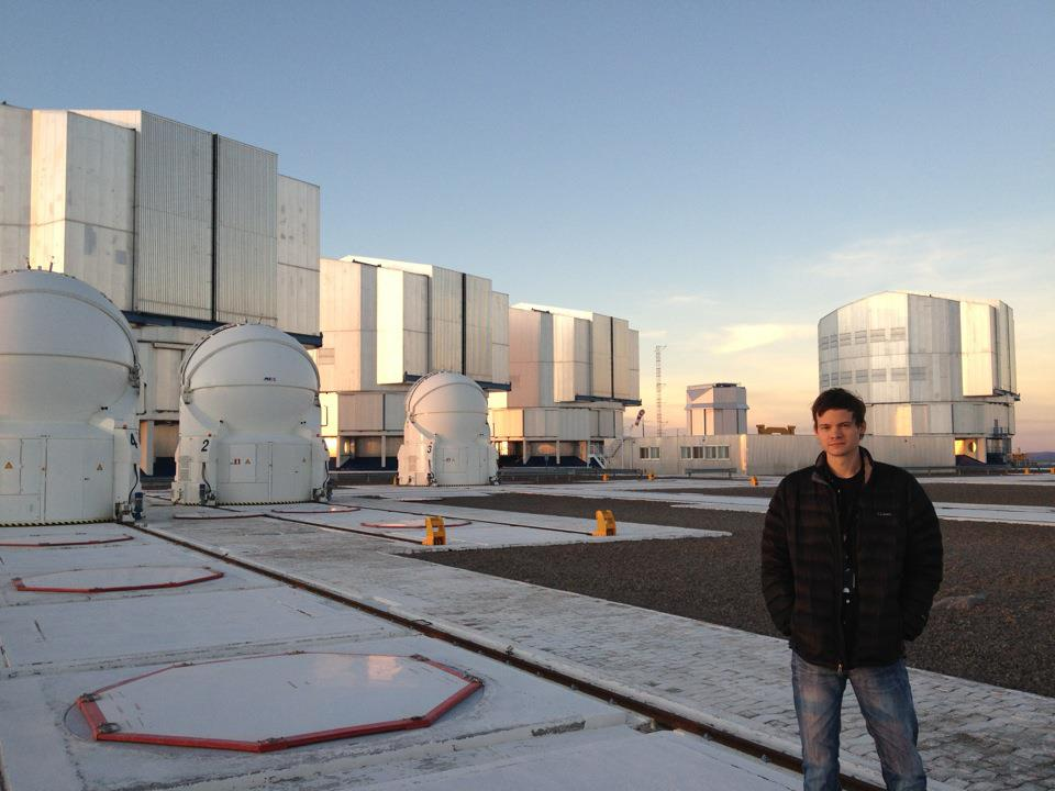 Grant Tremblay on the VLT platform, 2012 © Dr. Grant Tremblay