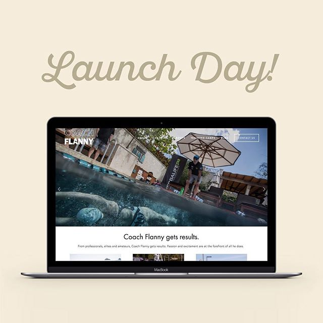 We love #launchday! Excited to announce the one-stop-shop for all of Coach Flanny's #triathlon programs. Head on over to www.coachflanny.com! #swimbikerun #itjustclickeddesign #webdesign