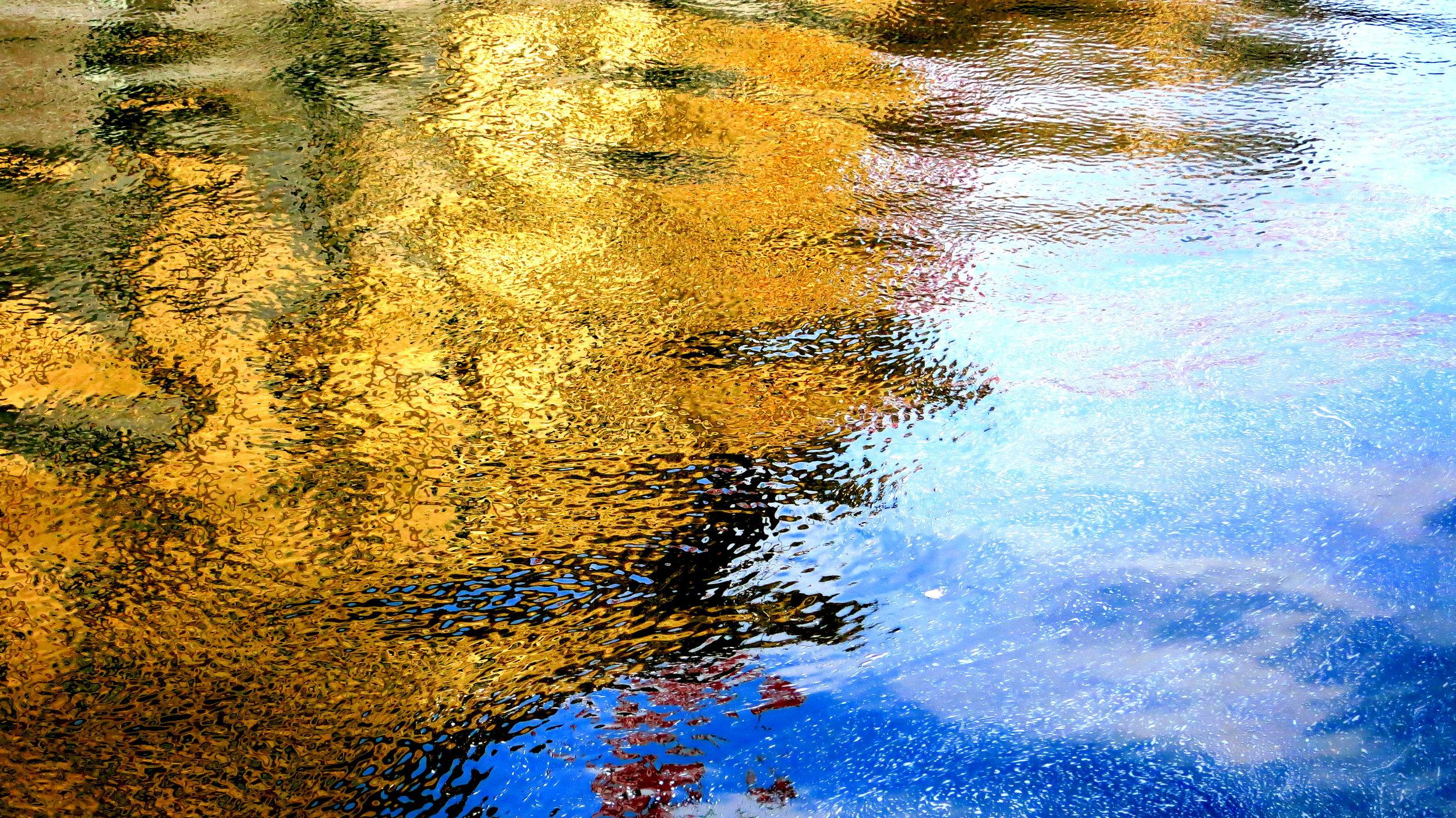 spring flows into the river spree, berlin © colin goedecke