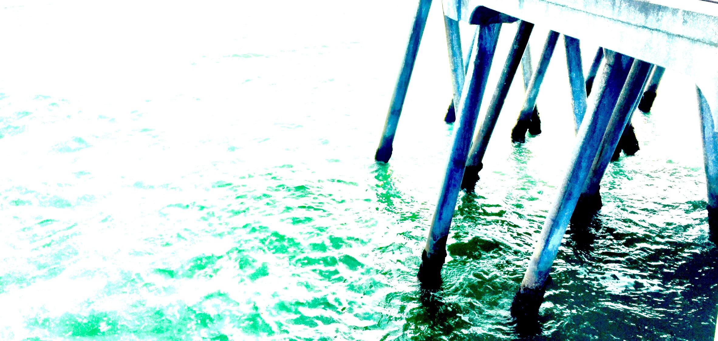 walking on water, huntington beach © colin goedecke