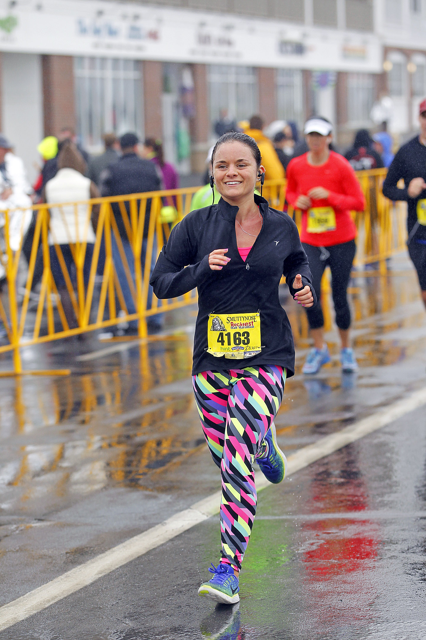 Just before the finish line of my first 13.1!