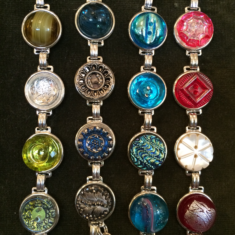 Czech button bracelets