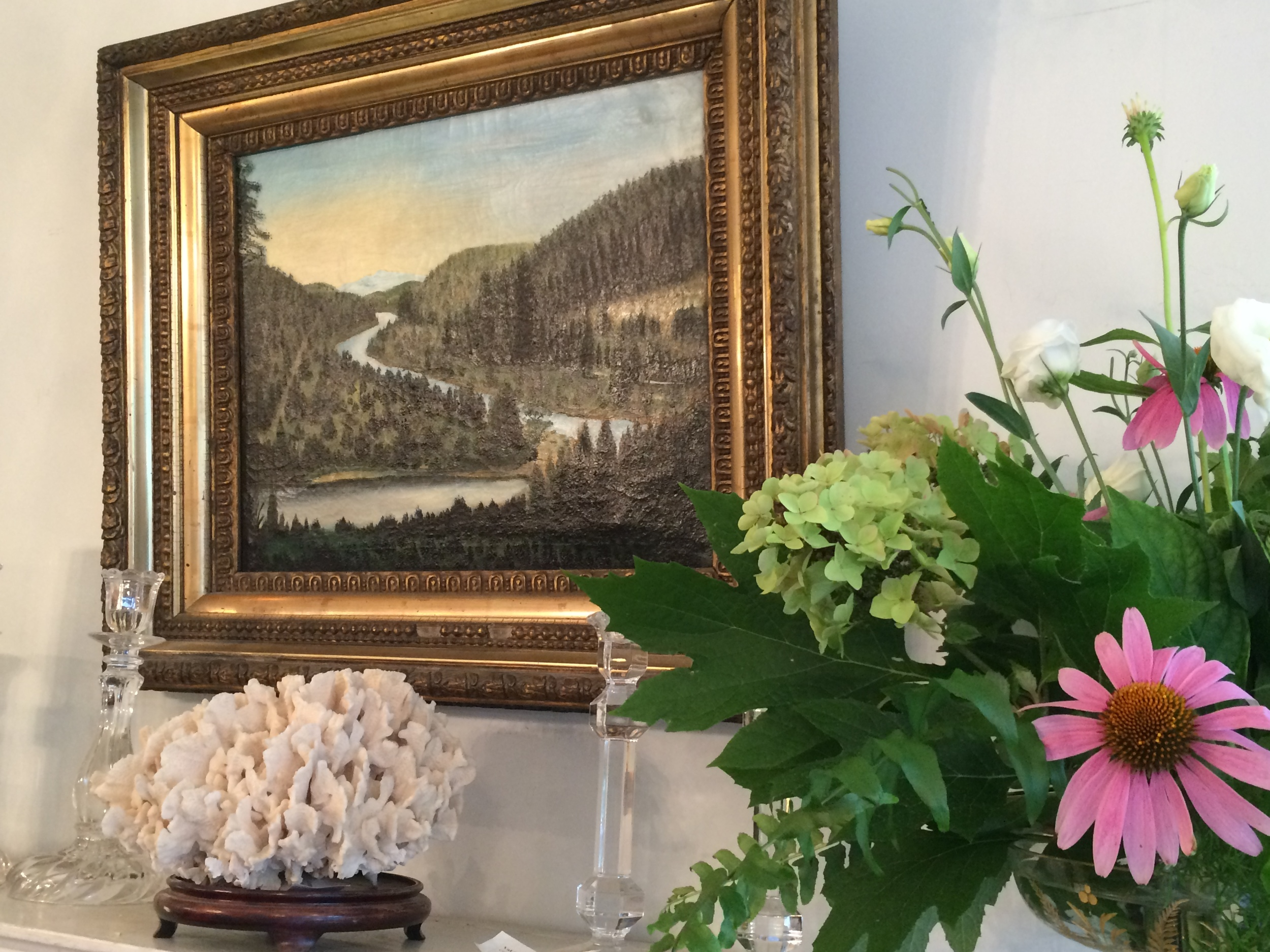 19th century oil on canvas signed A. Taylor in magnificent frame
