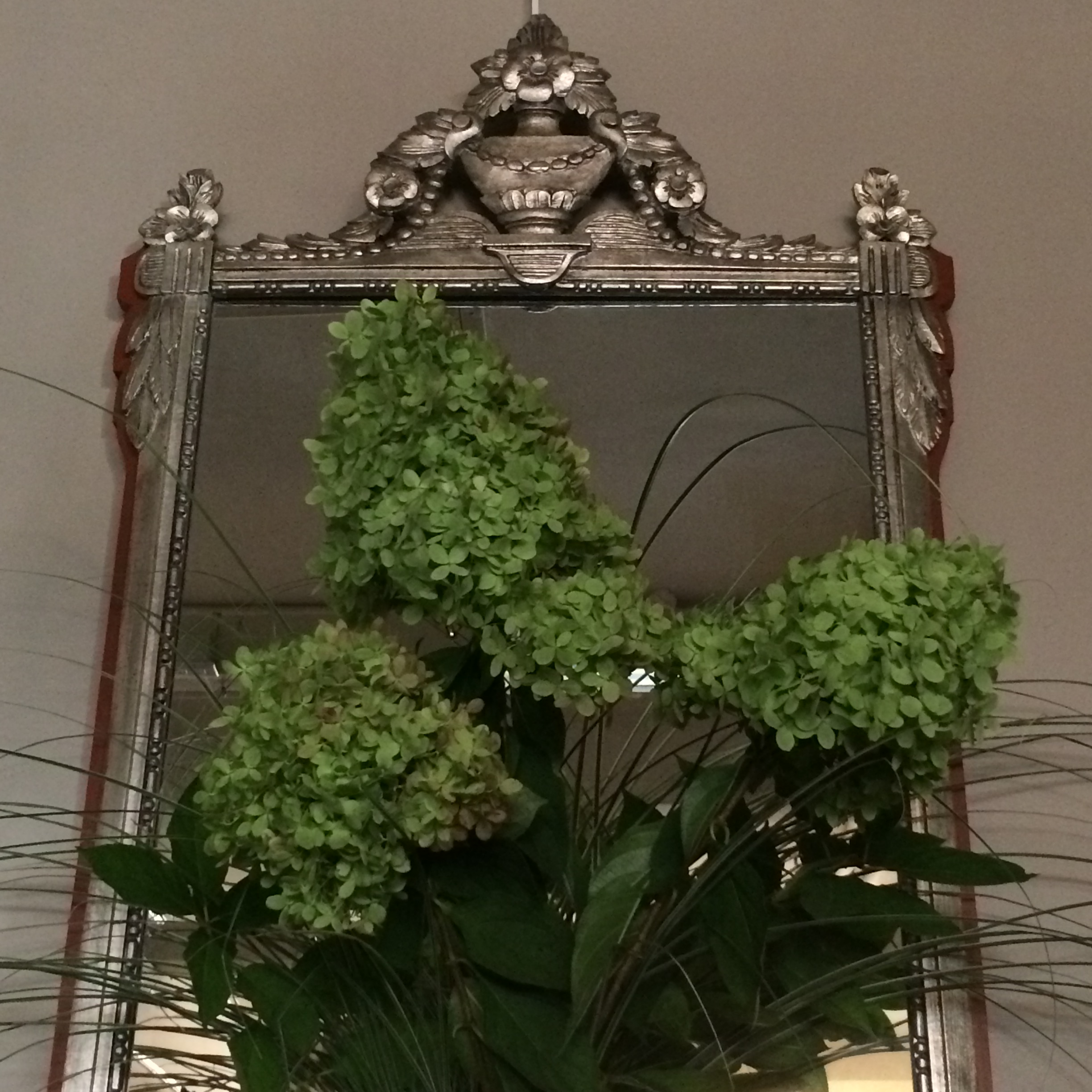Silver Mirror with Hydrangeas (1).JPG