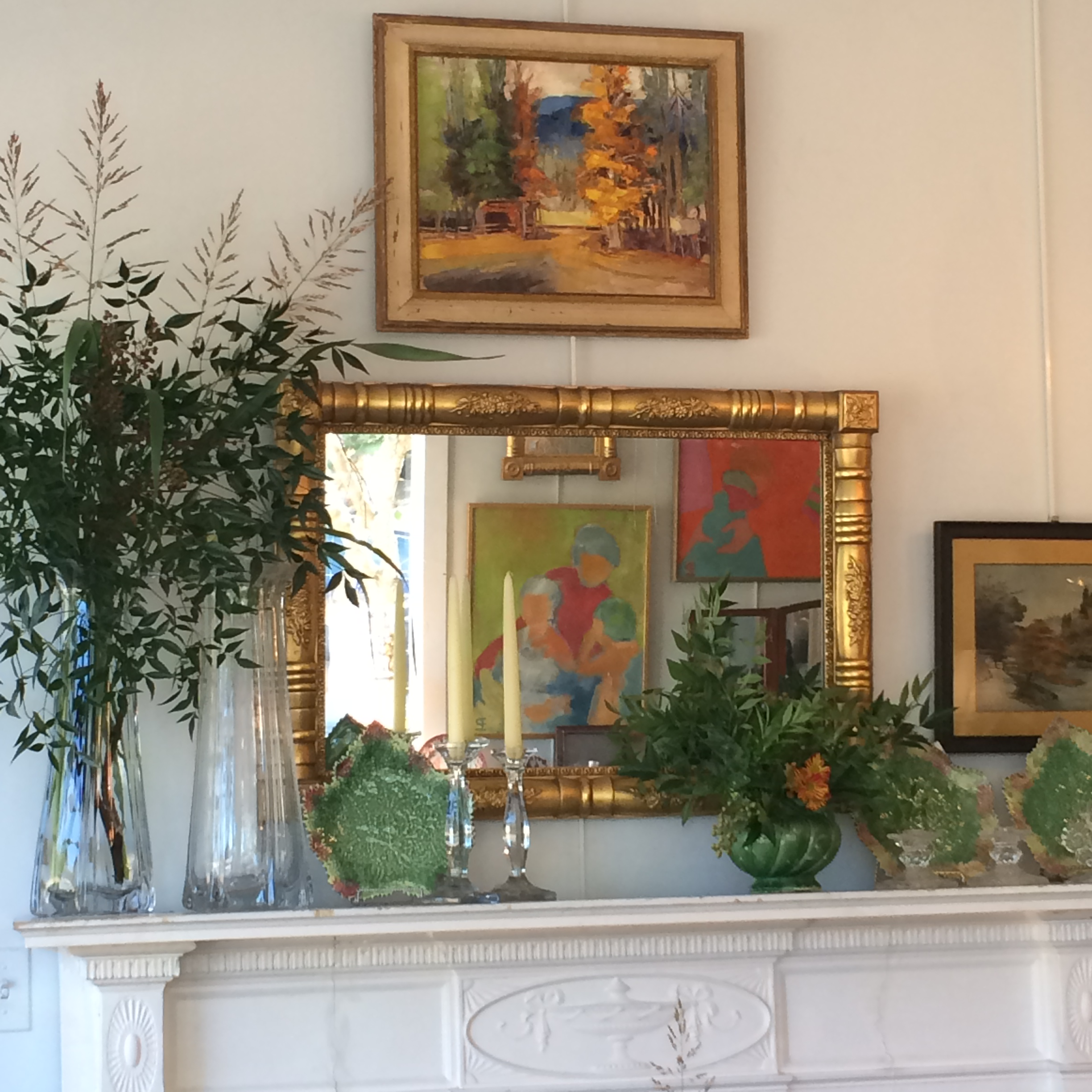 Fall Mantel with Nandina (2).JPG