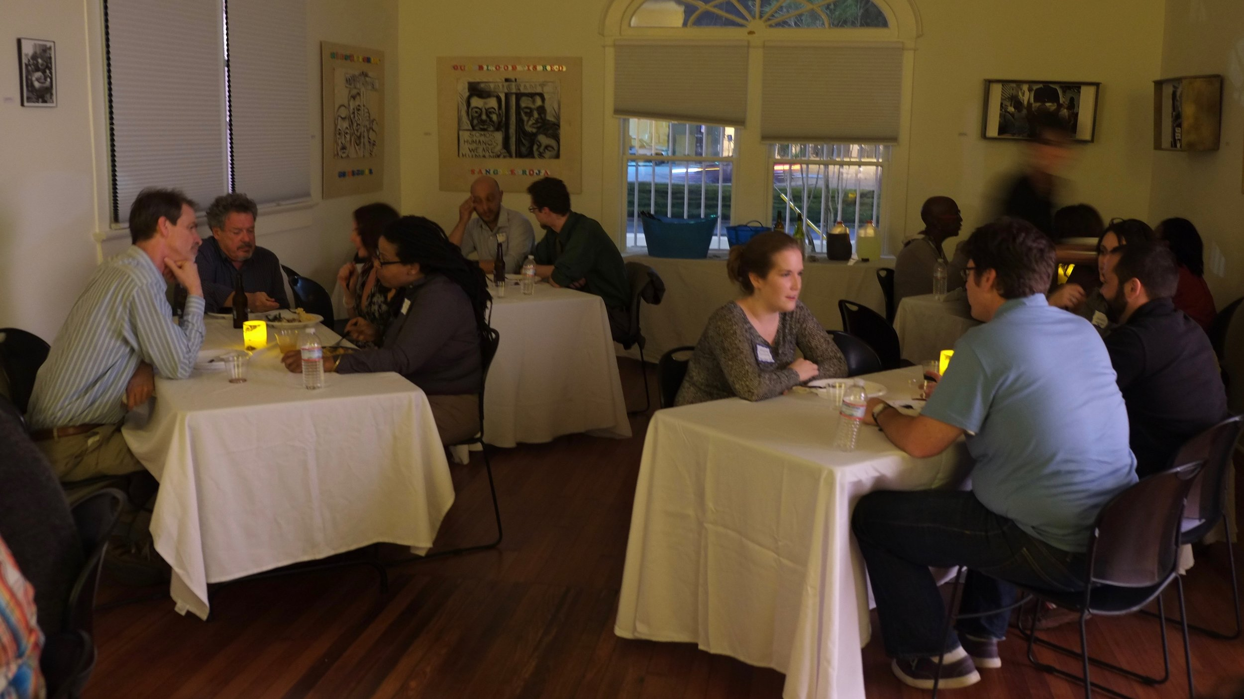 New Orleans MUSIC EDUCATORS gather FOR A dinner with Eric Booth to Discuss the global el sistema movement;related findings from his and tricia tunstall's book, PLAYING FOR THEIR LIVES  ;  and HOW TO CREATE A LOCAL network of strings teachers in new orleans.