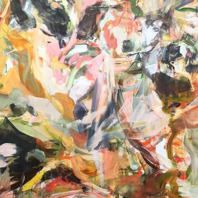 Cecily Brown... Her art always feels so good to be in front of.. I love this painting. It's quite remarkable how differently one responds to different abstract paintings/artists. Some literally feel dead and flat, while others like this painting, feel luscious and very much alive while emitting a strong, positive charge. Thank you @paulacoopergallery @fogfair #cecilybrown #paulacoopergallery #abstractart #painting #gestural #goodvibes #alive #luscious #sanfrancisco #collectart #goodforyoursoul #color