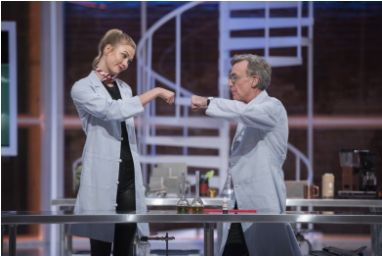 Source:  http://www.instyle.com/news/video/karlie-kloss-bill-nye-saves-the-world-trailer