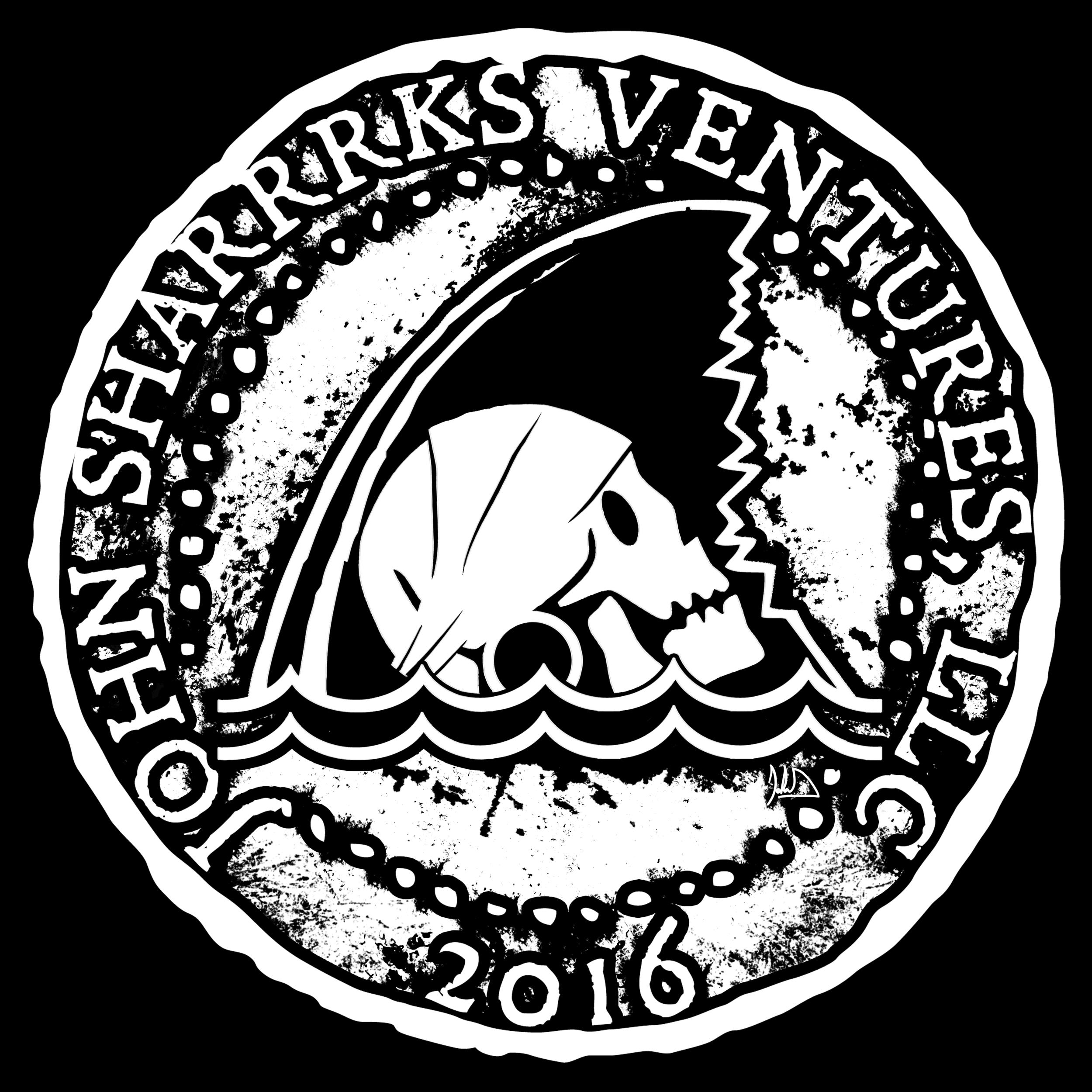 John Sharks Ventures Logo Coin 2 BW copy.png