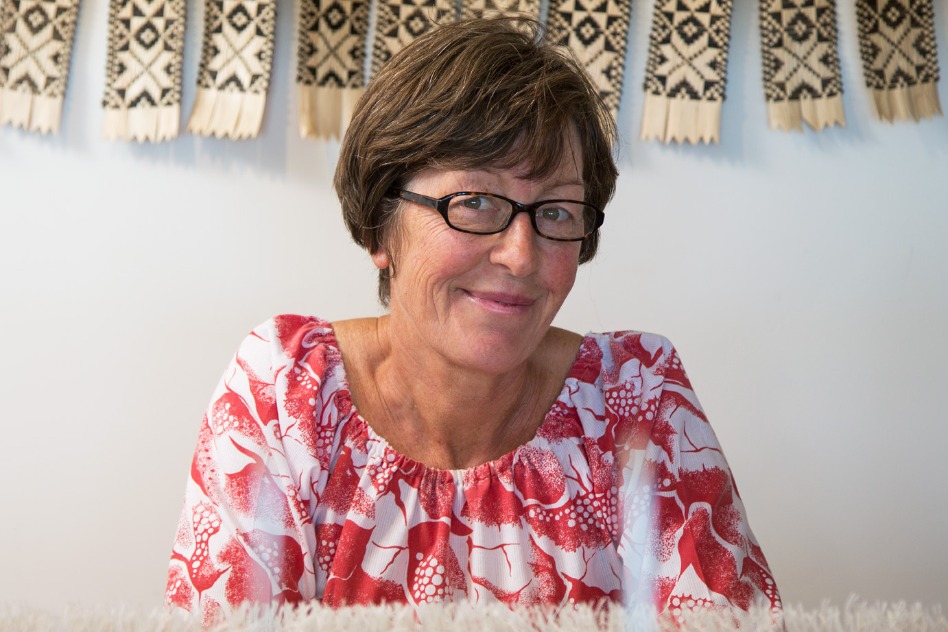 CHRISTINE Brimer - designer, weaver   After working in scientific research and in the not for profit sector I studied Textile Design as a mature student at Massey University's College of Creative Arts in Wellington. Sustainable design considerations underpinned our exploration of materiality and processes. Weaving resonated with me and establishing a studio practice enables me to continue to focus on the potential of strong and undyed New Zealand wool in contemporary, sustainable design. In my studio overlooking Wellington's South coast I weave my designs  on an AVL Compudobby IV loom, beautifully crafted in California from American Ash. It is a wonderful interface of mechanical and digital technologies. Like all looms, and the musical instruments they resemble, it requires care and tuning to play at its best. As I get aquainted with this beautiful machine, it has become an extension of my thinking and of my hands.  With weaving I have found my niche - the place where I belong and can contribute from.