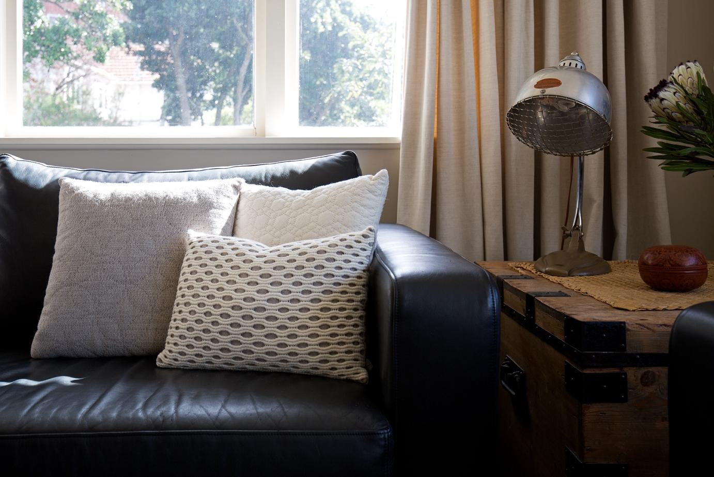 hand woven New Zealand wool cushion