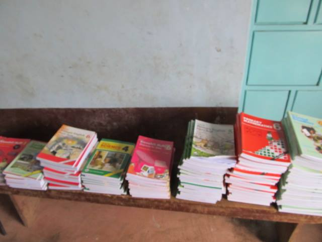 These are clips taken of the school text books that were donated to the Shalom Primary School.