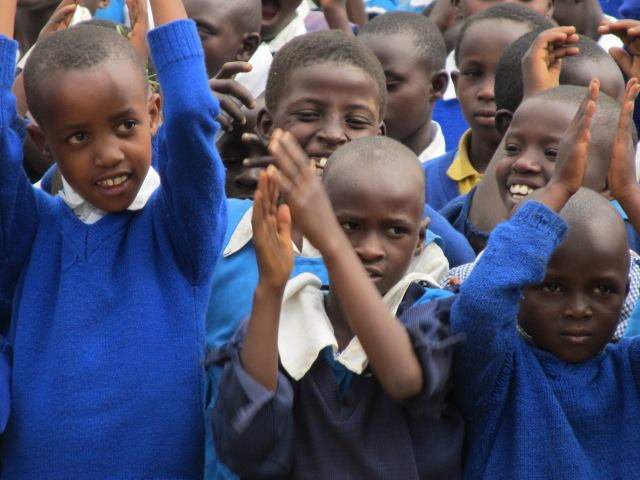 Students at the Shalom Primary School.