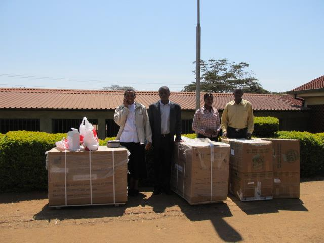 K.I.D.S. Initiative donated an Incubator, Glucometer, B.P. Machine, and 8 boxes full of medical supplies worth over $10,000 Canadian to the Ngong Hospital - Thanks to the Maples Kenya Connection Project!