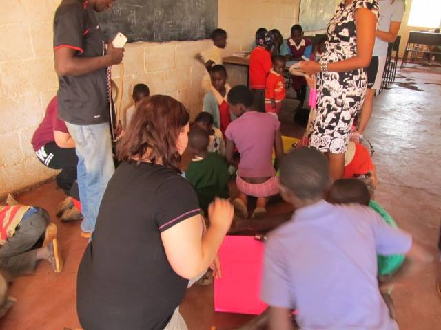 Arts and crafts at Mama Tunza Children's Centre.