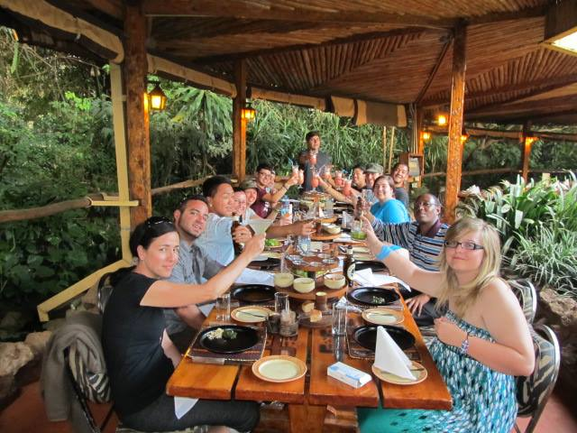 The students finished a fabulous day off by having a fun filled dinner at Carnivore!