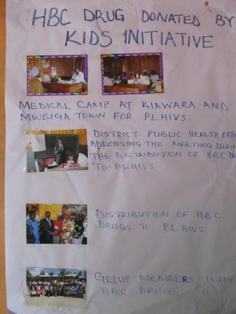 Kieni Fighter's of HIV/AIDS had this great poster in their meeting place from our last distribution trip!