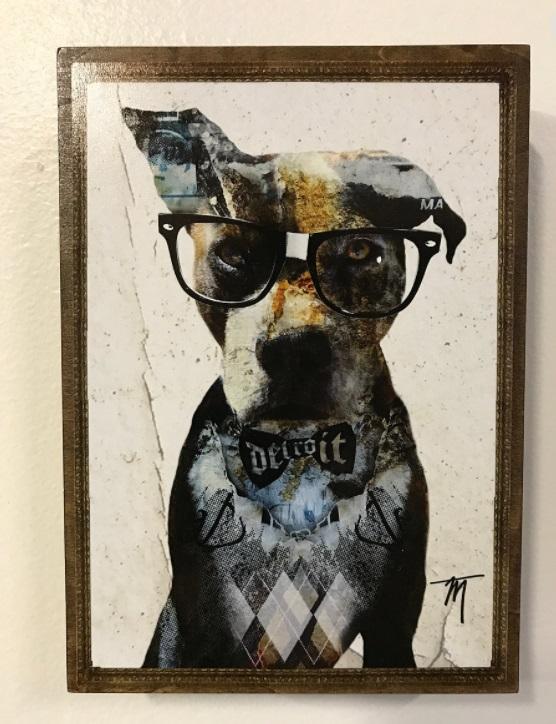 Canvas art at  Rust Belt Market .