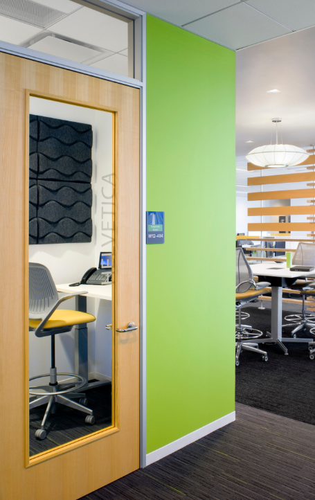 """Let's start with the most private of spaces; the private office! Private offices will provide a very quiet environment and """"heads down space"""" to preform detailed tasks. These spaces are typically enclosed with drywall walls and/or demountable walls."""