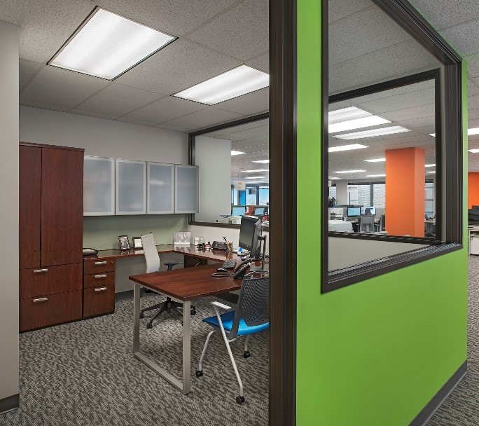 Private offices are ideal for those who require acoustical and physical privacy like those working with proprietary or sensitive information particularly those in financial or human resource positions.