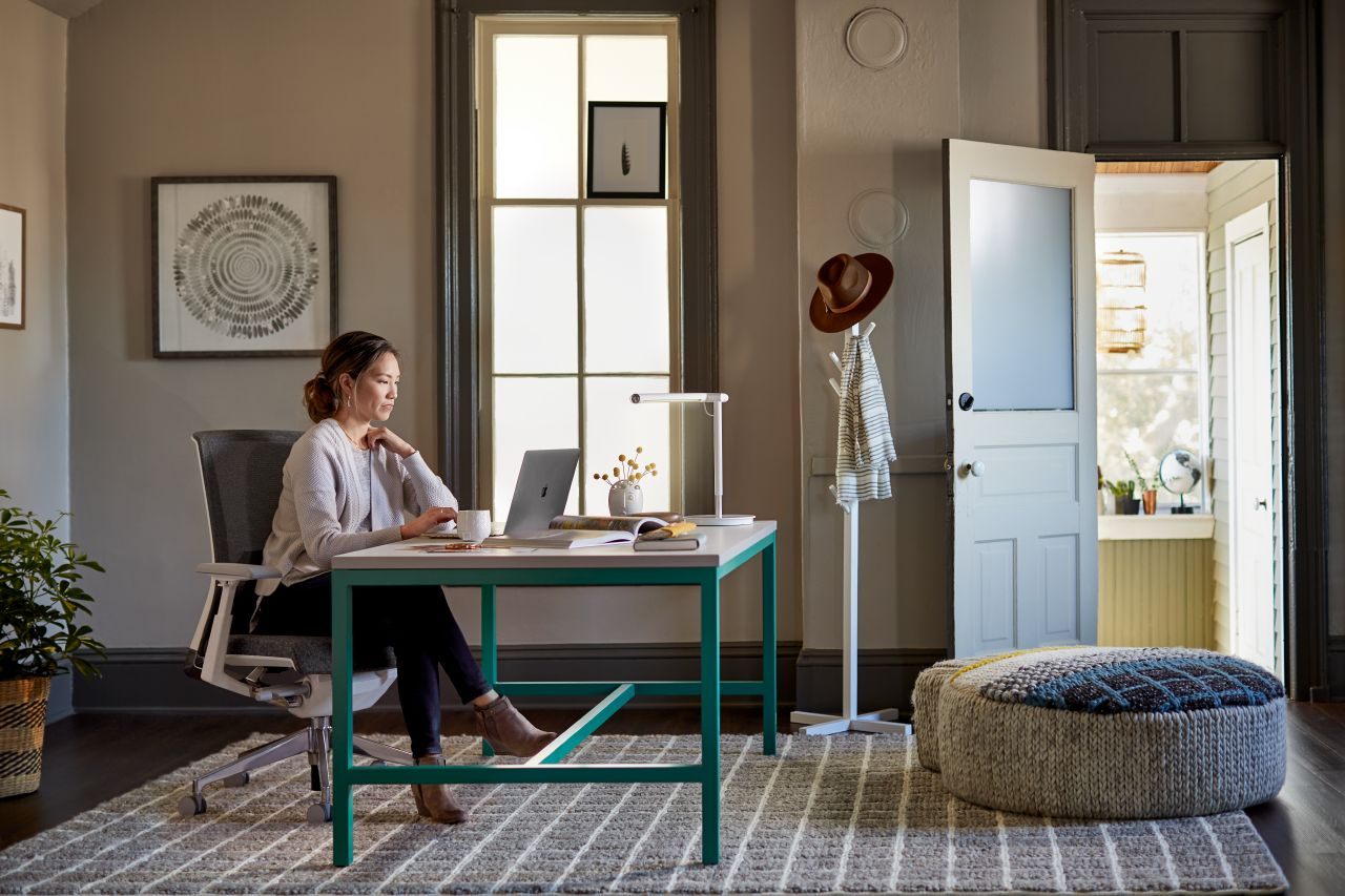 By shrinking down the work surface to fit the frame, Cultivate makes for a great desk in a private office environment or your home