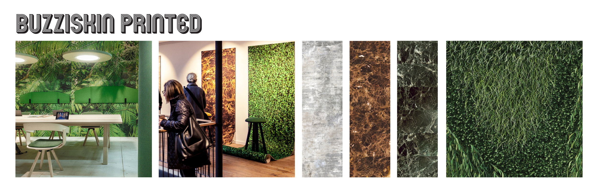 Customizable wall skin to accent a wall and enhance room acoustics - it's a win-win! I love that it also allows you to bring a sense of nature inside to evoke a connection to the outside world while working that 9 to 5 inside.