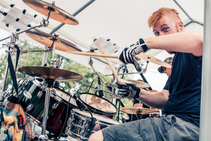 Ok, so sometimes I  still drum in bands.