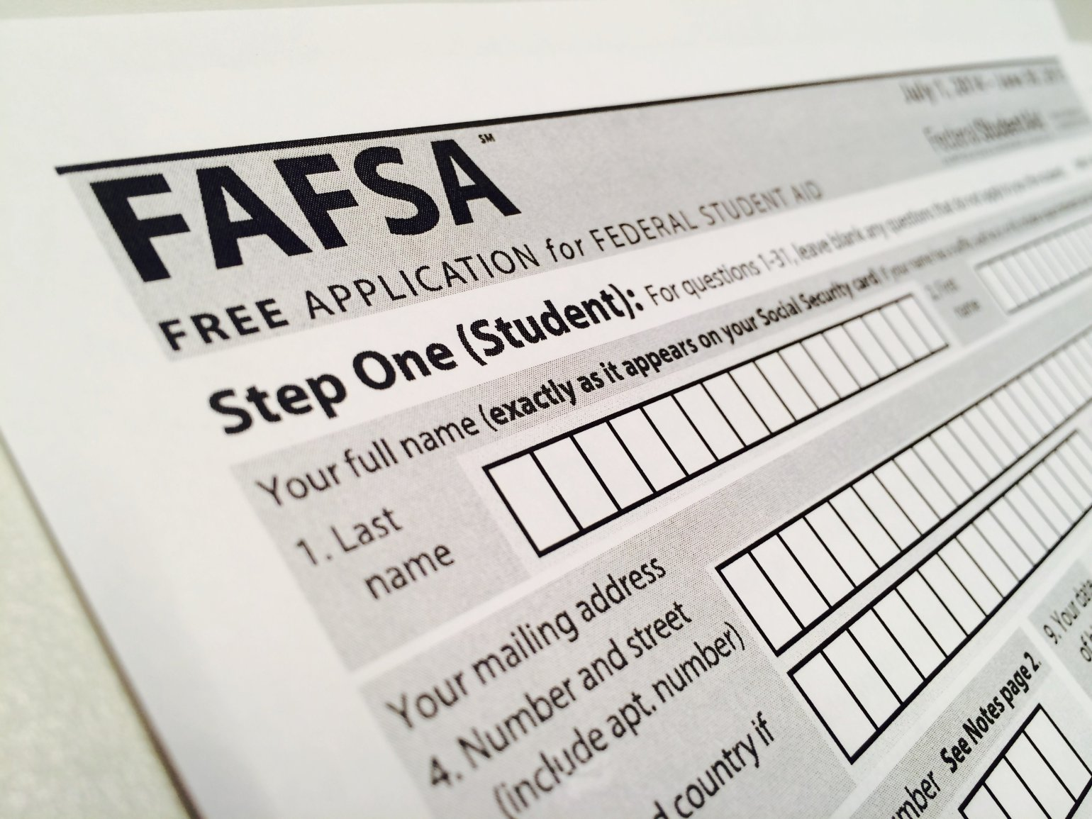 FAFSA Review - $200