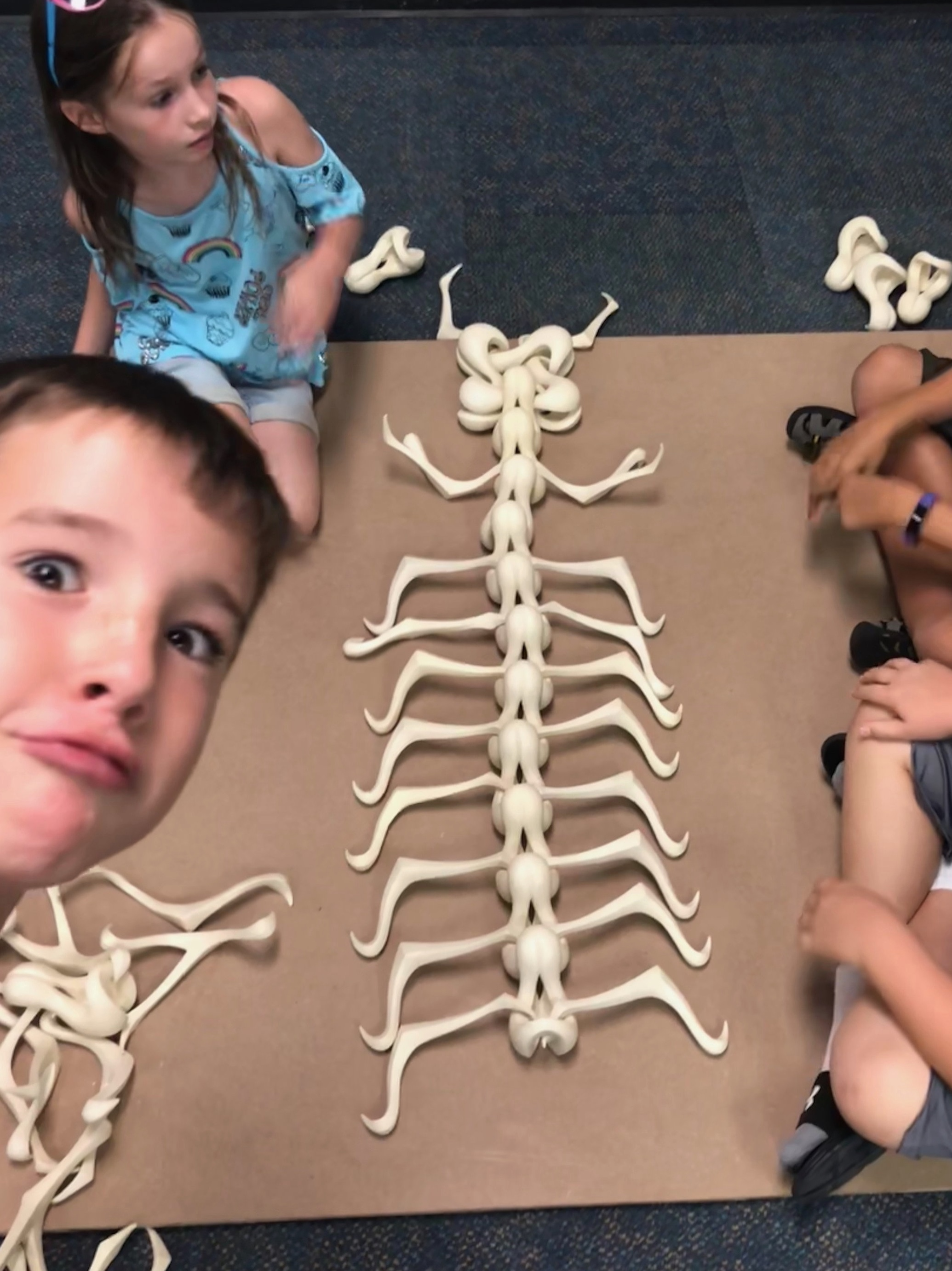"During workshops, prompts and challenges may be used such as, ""build the skeleton of a fantastic creature:"""