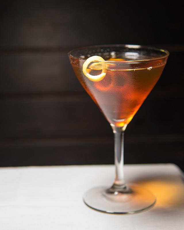 Ingredients:bourbon, cynar, cocchi americano, chartreuse