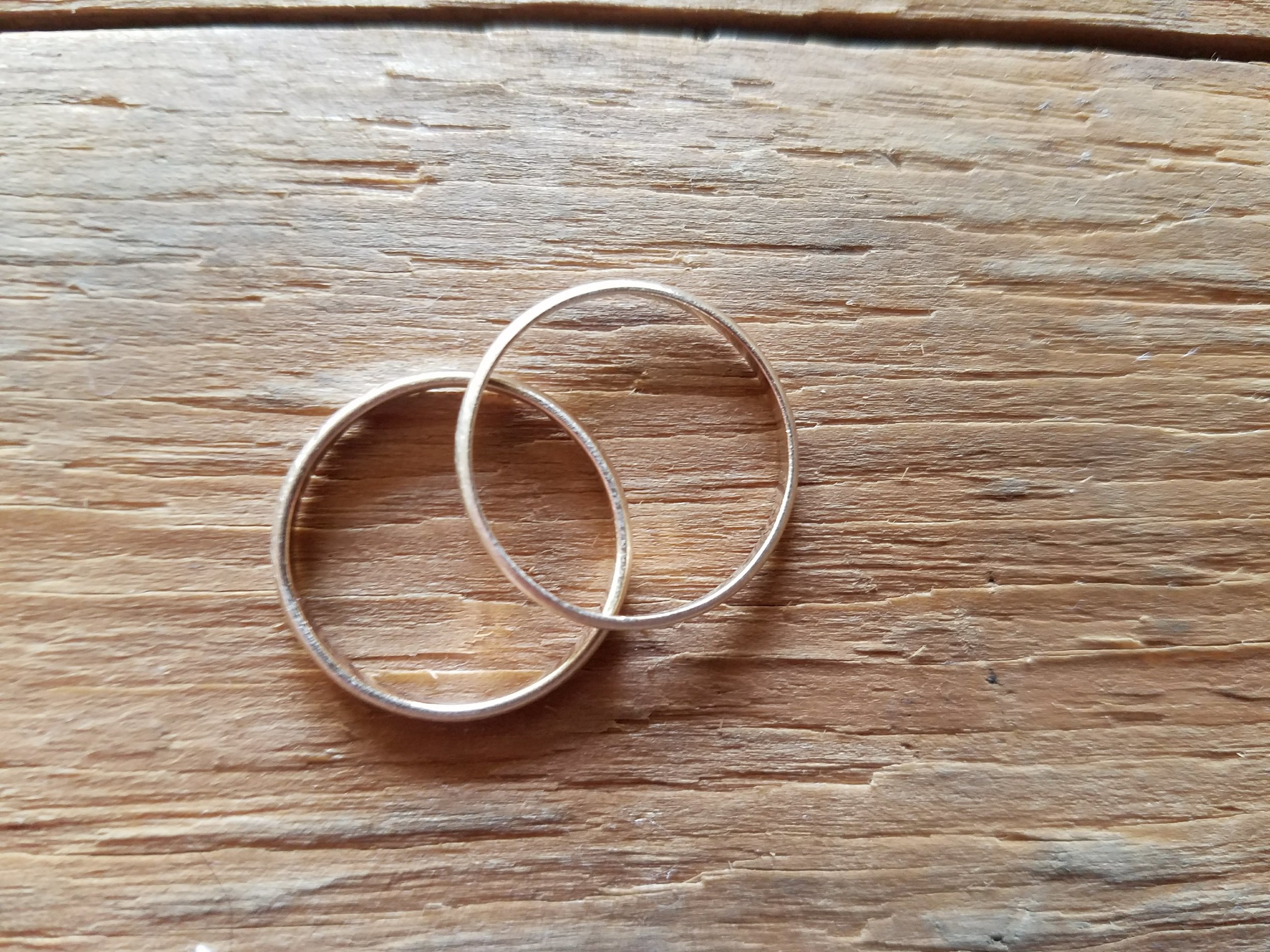 14k Gold Wedding Rings front view