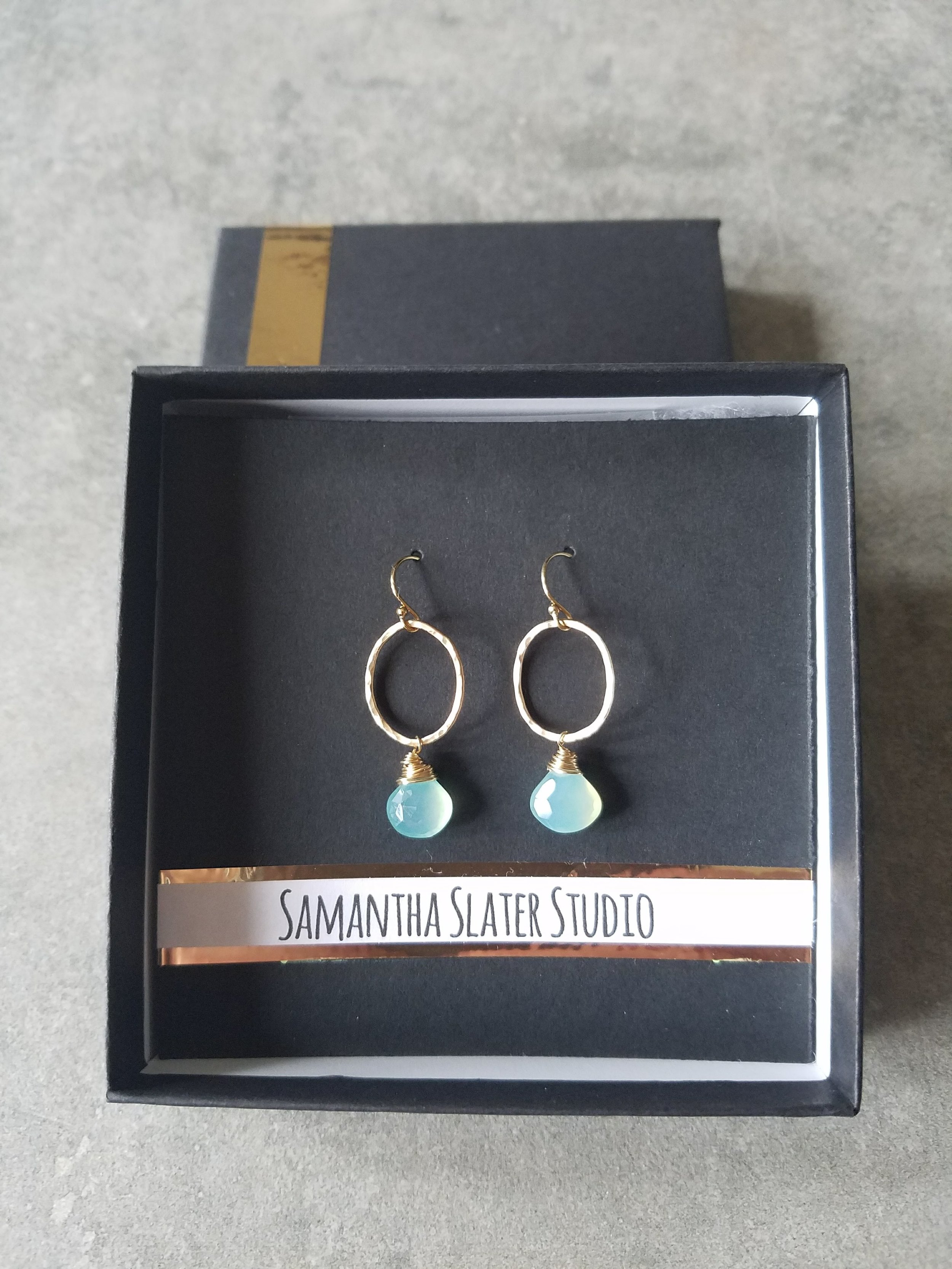 view of finished earrings