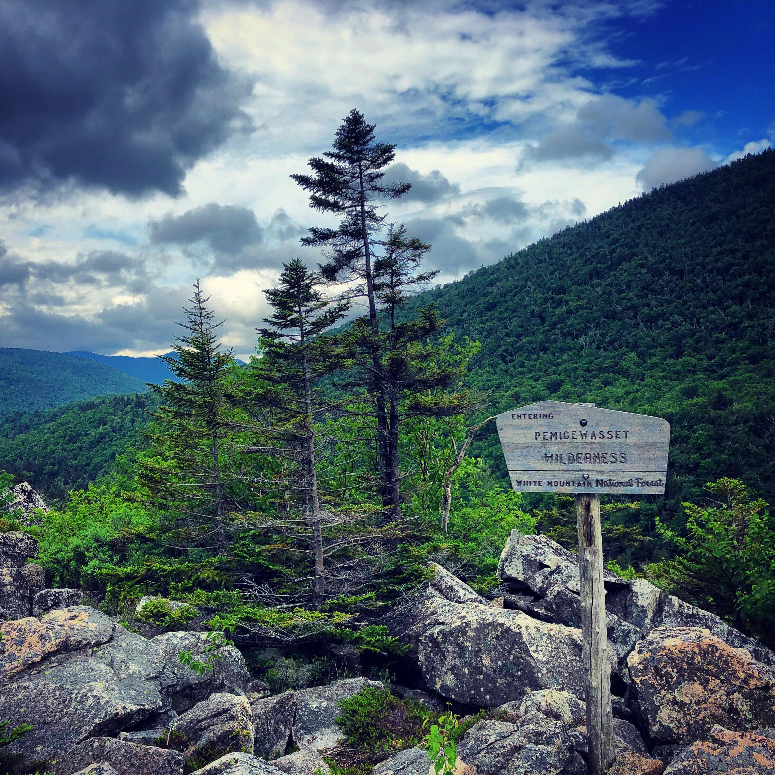 Entering the Pemigewasset Wilderness