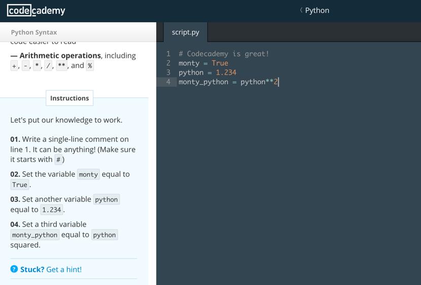 CodeAcademy Sample