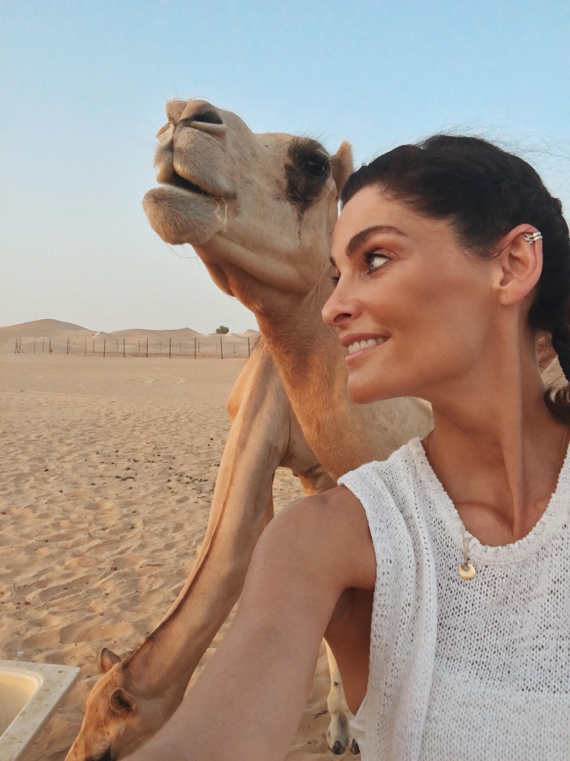 I got my selfie with a camel