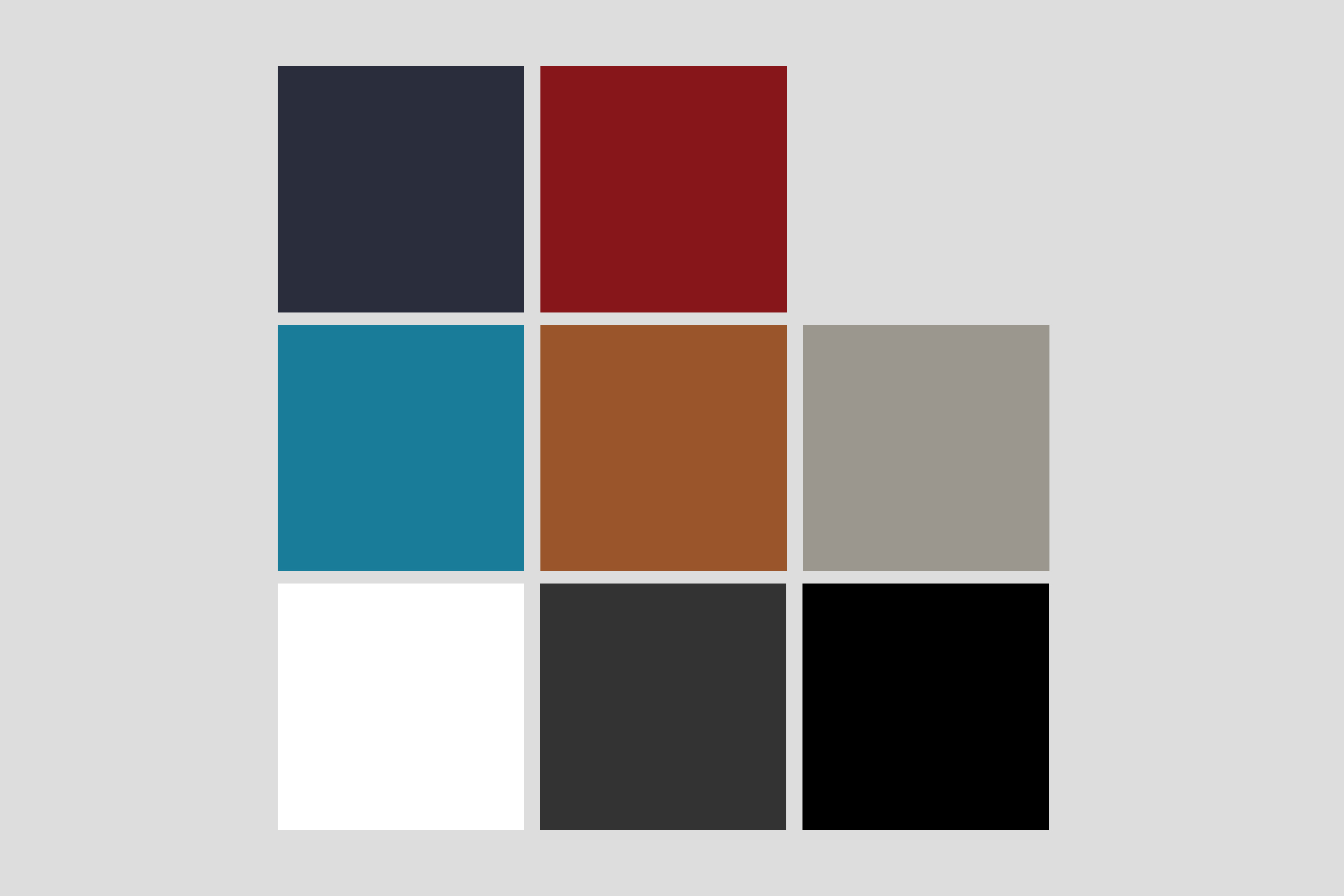Light grey background color included as neutral color.
