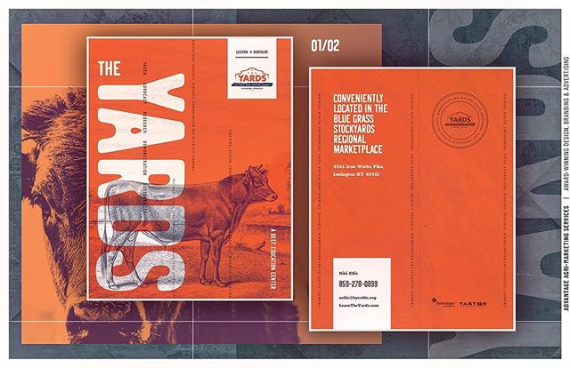 Recent work: overview booklet/print series for The #YARDS educational facility, located in the Bluegrass Stockyards. 🐮