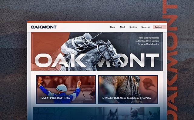 Website and brand development for Oakmont Australia, a thoroughbred racing, sales and investment group with partnerships across Australia, Europe and North America. 🐎
