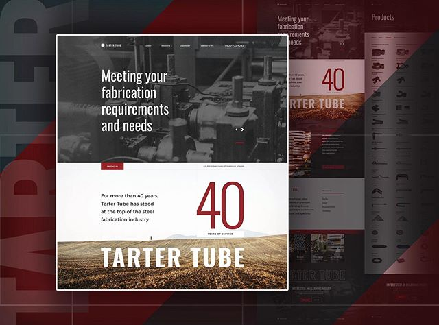 Website and digital brand revamp for Tarter Tube, a steel fabrication division of Tarter USA: the world's largest manufacturer of farm, ranch and agricultural products. #webdesign #branding