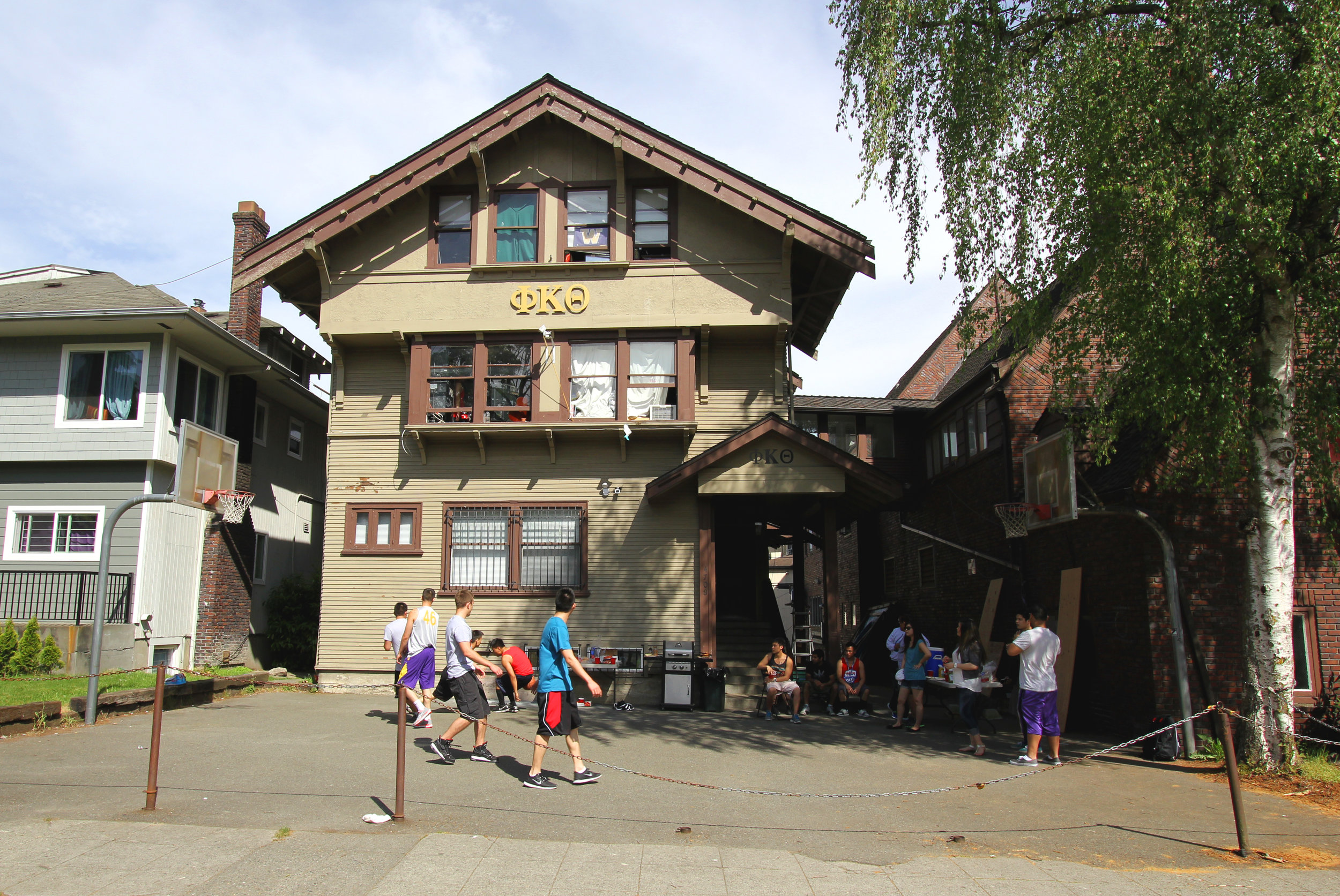The Phi Kappa Theta fraternity chapter house.