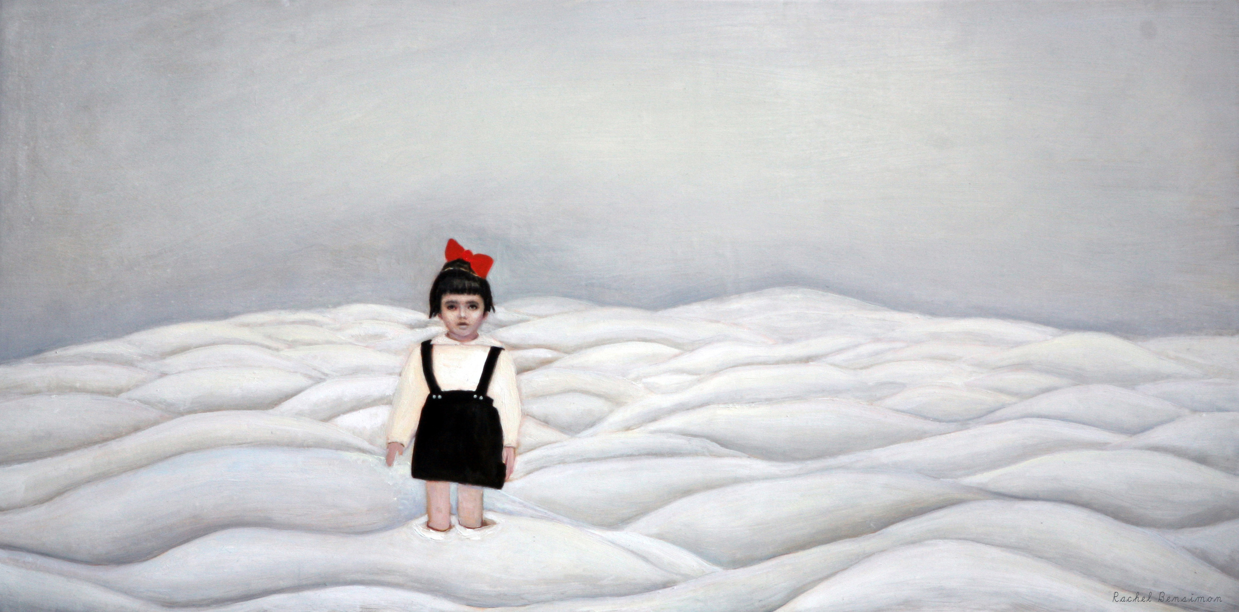 """Grounded, oil on panel, 12""""x24"""", 2012"""