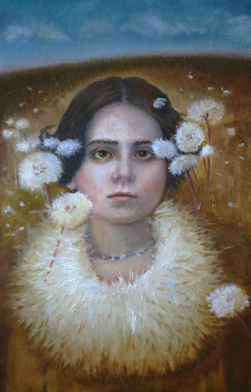 "Wishful Thinking, oil on panel, 8""x12"", 2013"