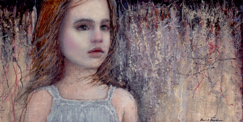 "Sticks and Stones, oil on panel, 12""x6"", 2014"