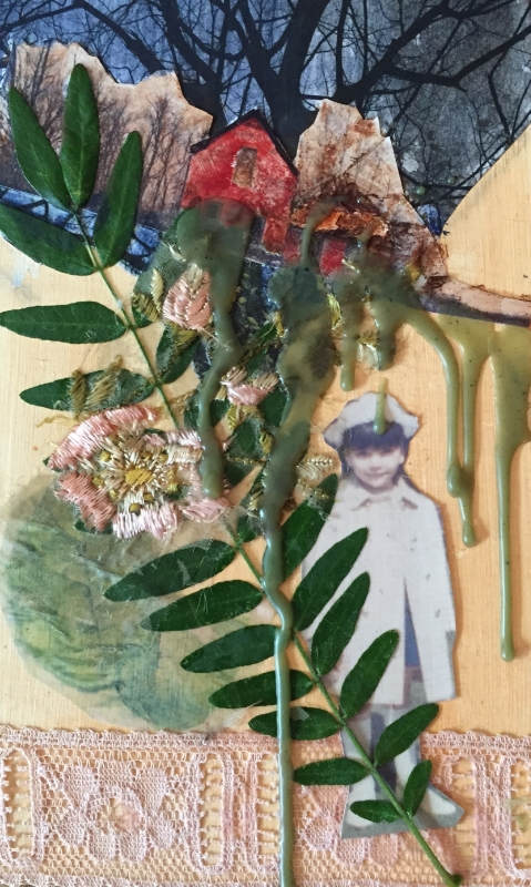 "untitled, mixed media on panel, 4""x6"", 2016"
