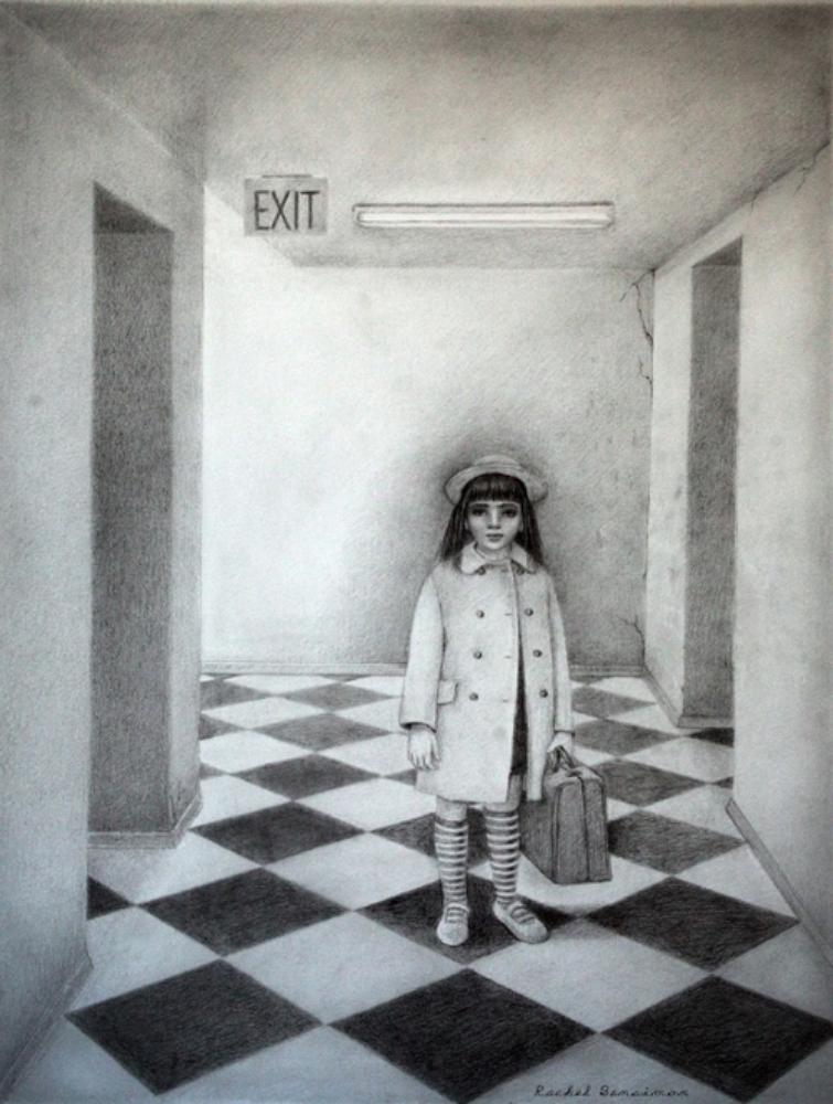 "The Corridor, 22'x30"", graphite on paper, 2010"